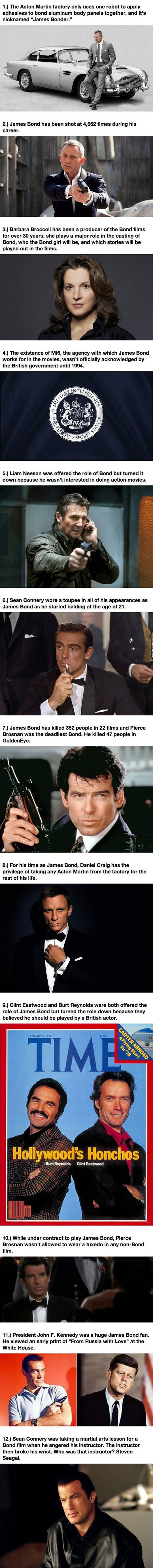 12 Things About The Famous James Bond Franchise