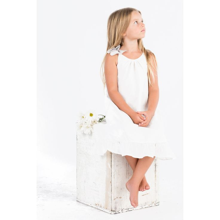 Go Gently Baby Girl's Organic White Butterfly Dress