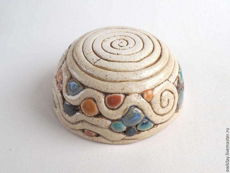 Купить Пиала «Синяя вода» - Керамика, ручная лепка, посуда, декоративная посуда, подарок, пиала