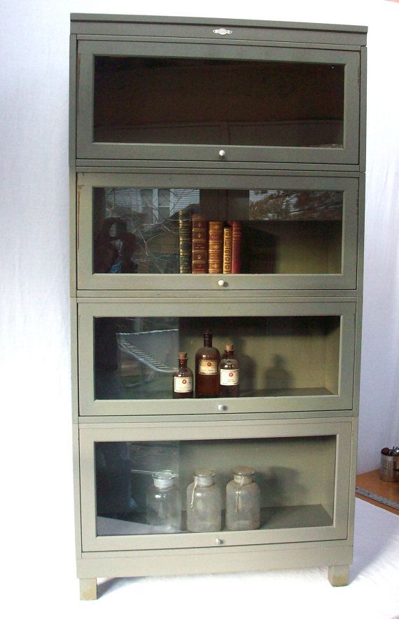 Vintage Bookcase / Metal Lawyers Barrister Style with Glass Front Doors /  Art Metal. Etsy - Best 25+ Vintage Bookcase Ideas On Pinterest Fabric Bookshelf