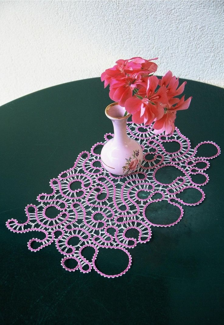 Hand-made idrija bobbin lace.