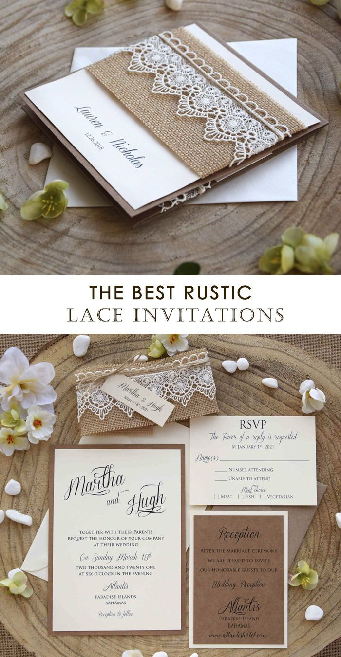The Best Rustic Lace Wedding Invitations That Are Perfect For A Rustic Wedding Invitations Rustic Wedding Invitations Rustic Lace Portrait Wedding Invitations