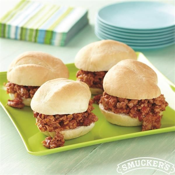 Cheesy Chicken Sloppy Joe Sliders from Smucker's®