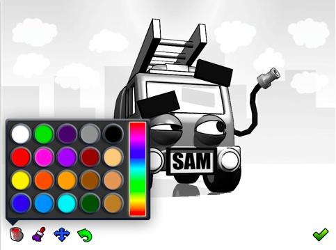 Sam The Biggest Firetruck by Chris Adams , via Behance