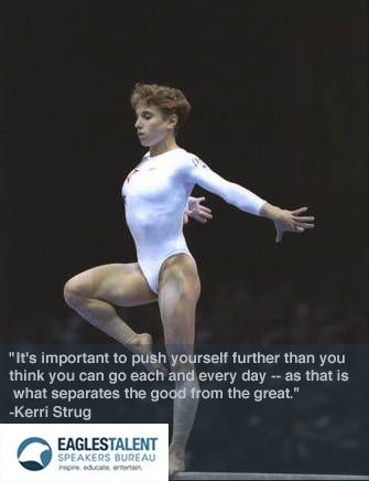96 Olympic Games Gymnastic Hero, Kerri Strug gives inspirational quote on self motivation.