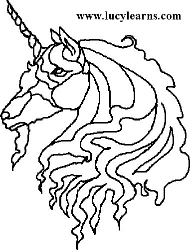Coloring Pages Unicorn Head : 37 best things i love images on pinterest