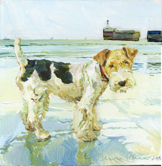 Jack Russell Cricket Paintings For Sale