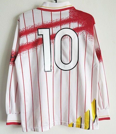 名古屋グランパス 1995-96AWAYカップ戦 長袖ユニフォーム#10ストイコビッチ Lサイズ_画像2