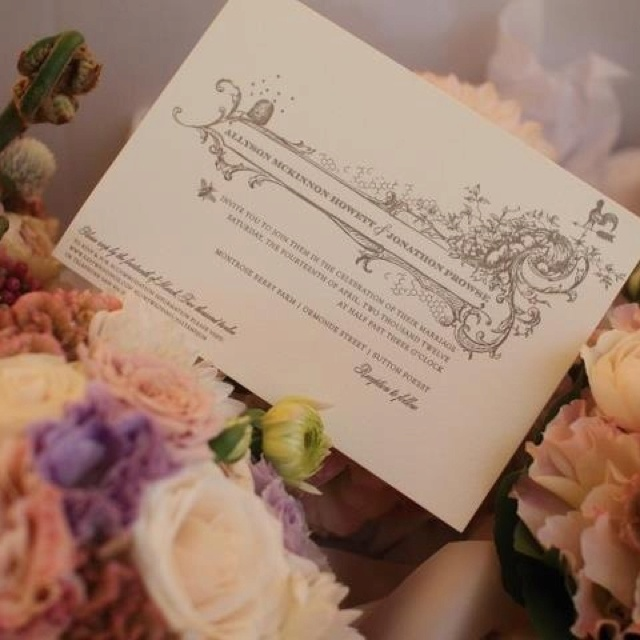 Bouquets and invitations...
