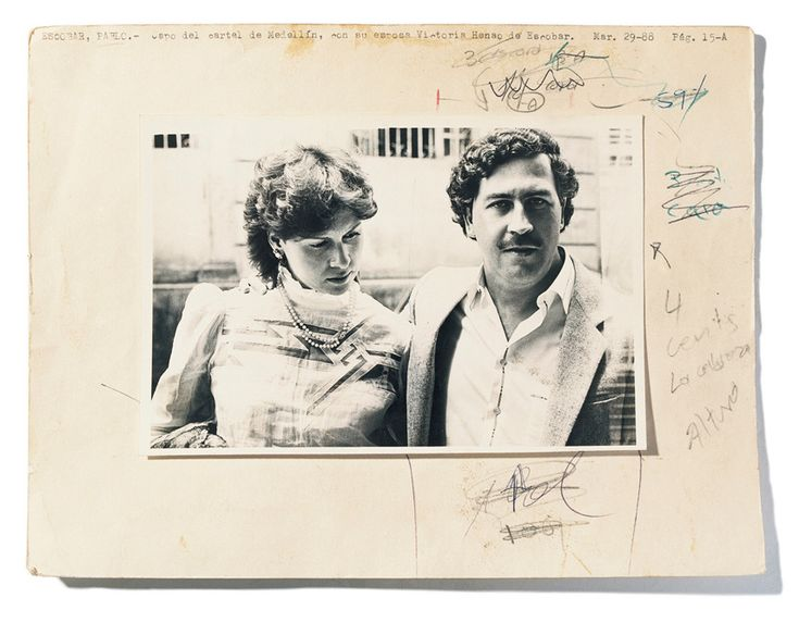 """Unknown photog., 1980s, Pablo Emilio Escobar Gaviria (aka Pablo Escobar) Pablo and his wife, Victoria Henao """"He began stealing tombstones, then he became a car thief, then an assassin, then a smuggler and then a drug smuggler, then he became a representative of the chamber – a politician …the worst of all."""" (El Chino, Pablo's friend)"""