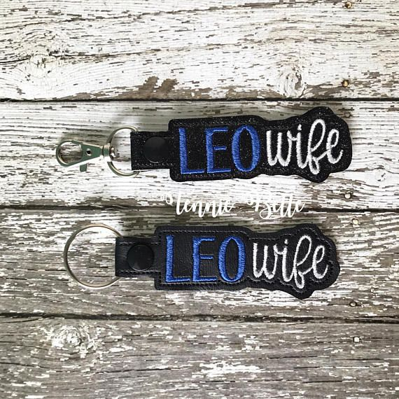 Leo Wife Keychain, Backpack Clip, or Purse Clip- Law Enforcement Officer Wife