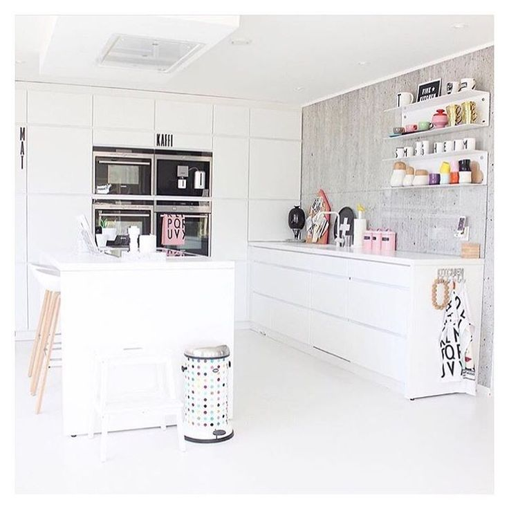 From the beautiful kitchen of @juliehole who like both ovens and colourful dots…