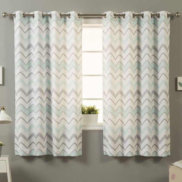 Complete your home decor with the Scandinavian inspired, Sasha Chevron Semi-Opaque Grommet/Eyelet Curtain Panels. Refreshing and simple in design, these panels will enhance your space with their geometric pattern and understated color tones.