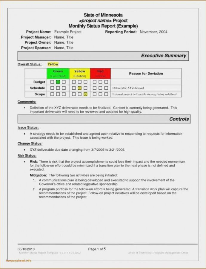 It Program Management Plan Template In 2021 Executive Summary Template Project Status Report Report Template
