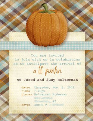 Some friends of ours are expecting a baby in December and I think that this would be a great idea for a fall baby shower for them.