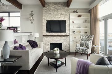 Prince Building contemporary living room