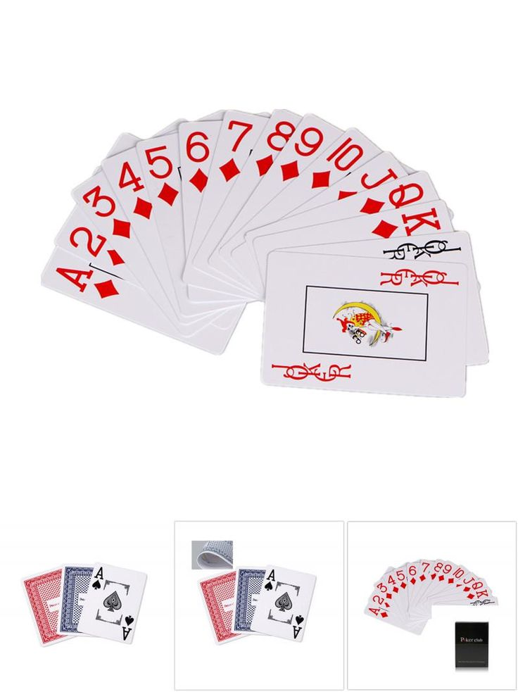 [Visit to Buy] Hot Sale Texas Plastic Playing Cards Waterproof Poker Cards Pokerstar Party Magic Trick Game Tool PP0 #Advertisement