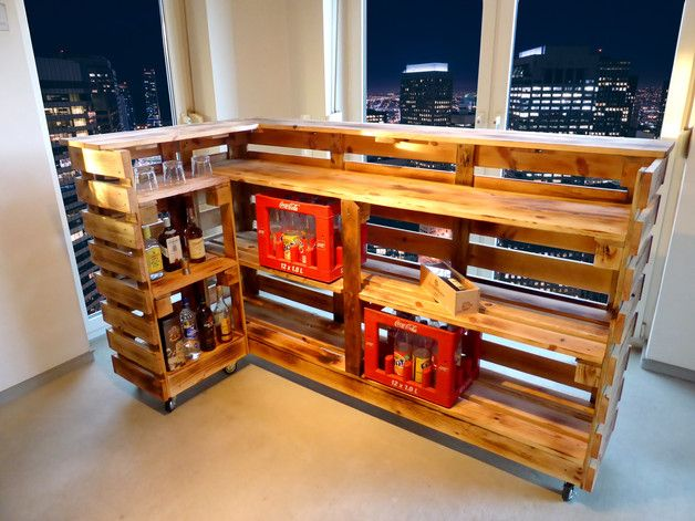 Perfekt Paletten Bar / Paletten Tresen Palettenmöbel | Diy Ideas | Pinterest | Bar,  Pallets And Men Cave