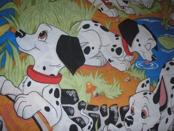 101 Dalmations Twin Flat Sheet- Fabric on Etsy, $10.00