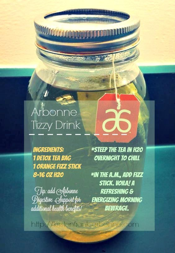 #Arbonne Tizzy Drink recipe featuring Fizz sticks and herbal detox tea. http://kristenfrank.arbonne.com