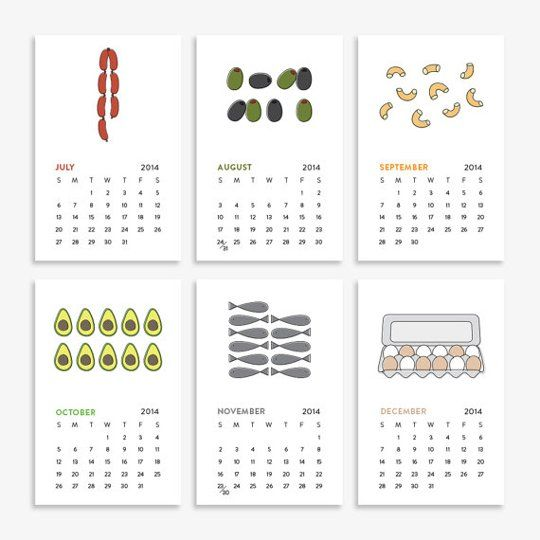 2014 Counting in the Kitchen Calendar by English Muffin Shop