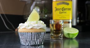 Top with a lime and enjoy your tequila cupcakes