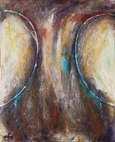 """""""Nuances"""", #mixedmedia on #canvas at #Gallery Saint-Dizier in #Montreal"""