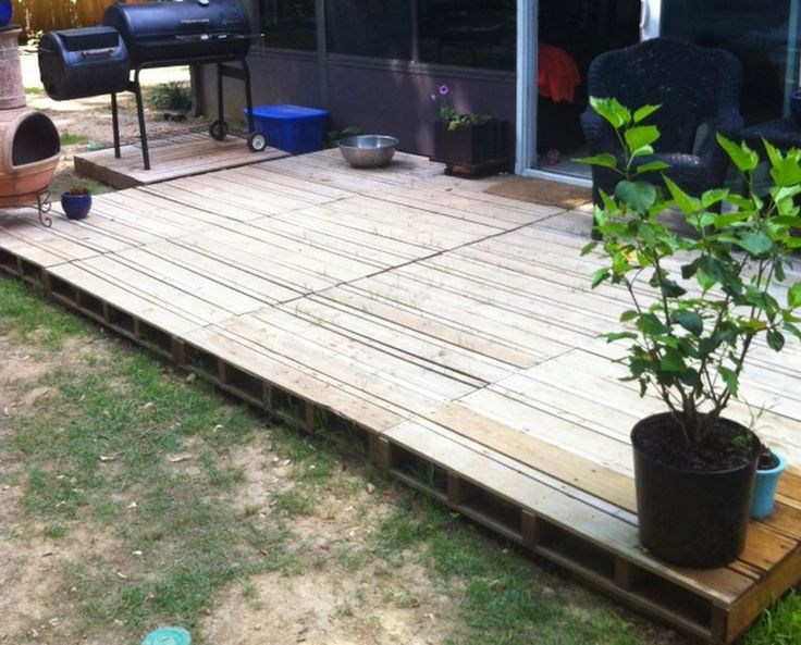 Wood Pallet Patio Deck                                                                                                                                                                                 More