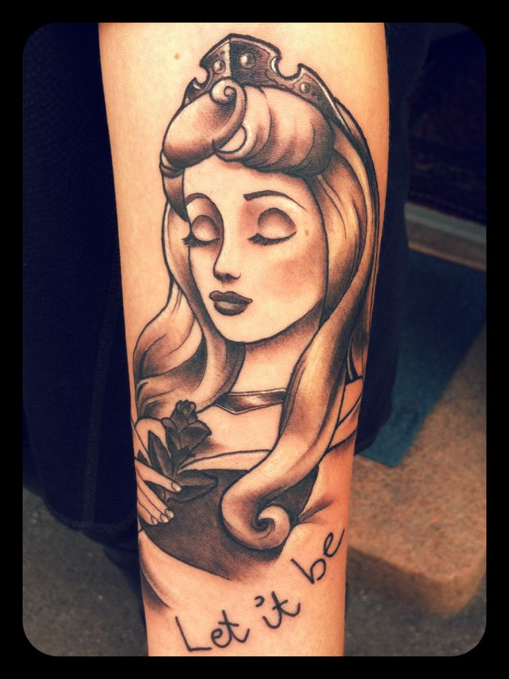 Looove this, I really want a sleeping beauty tattoo, this one is awesome