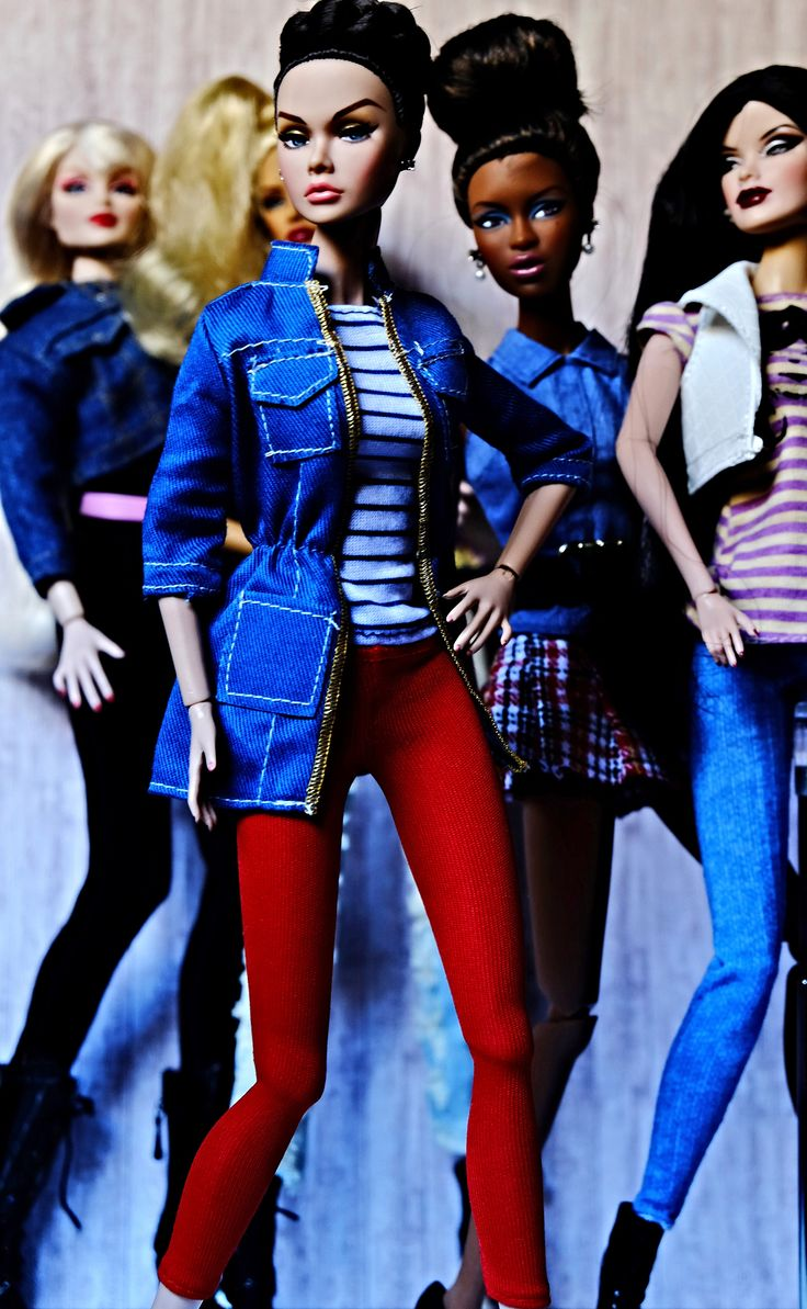 https://flic.kr/p/xrdi21 | Denim Fashion | Poppy Parker, Adele Makeda, Veronique Perrin, Natalia Fatalé & Ingrid Kruger