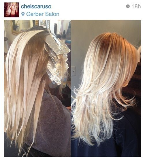 Balayage Blonde - I wonder if this is bleach or high lift color?