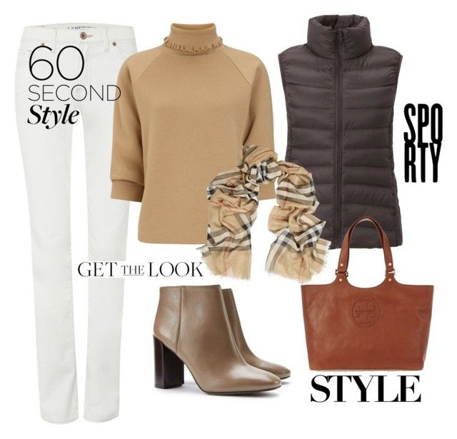 """60 Second style"" by dressmeup365 on Polyvore featuring Lands' End, J.W. Anderson, Uniqlo, Tory Burch and Burberry"