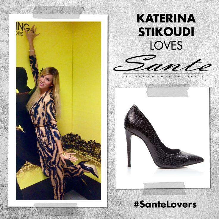 Η Κατερίνα Στικούδη με SANTE pumps στα παρασκήνια της εκπομπής #TaKardasians στον ANT1 #SanteLovers
