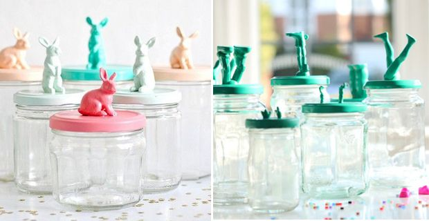#DIY projects: #storage #jars with #toy decoration.  Left:©Toriejayne; right ©Eleanna Kotsikou