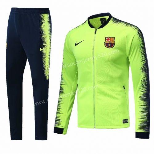 2018-19 Barcelona Fluorescent Green Thailand Soccer Jacket Uniform ... e3a8e78f30773