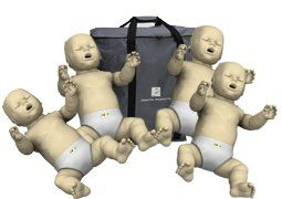 4Pack of Infant CPR Manikins with Compression Rate Monitors by Prestan Medium Skin Tone PPIM400MMS -- See this great product.(This is an Amazon affiliate link and I receive a commission for the sales)