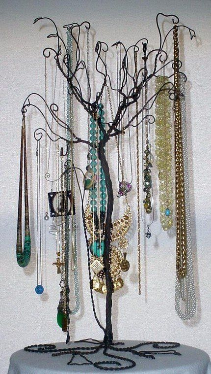 Jewelry display/organizer made from high gauge wire. Many ideas on this site :)
