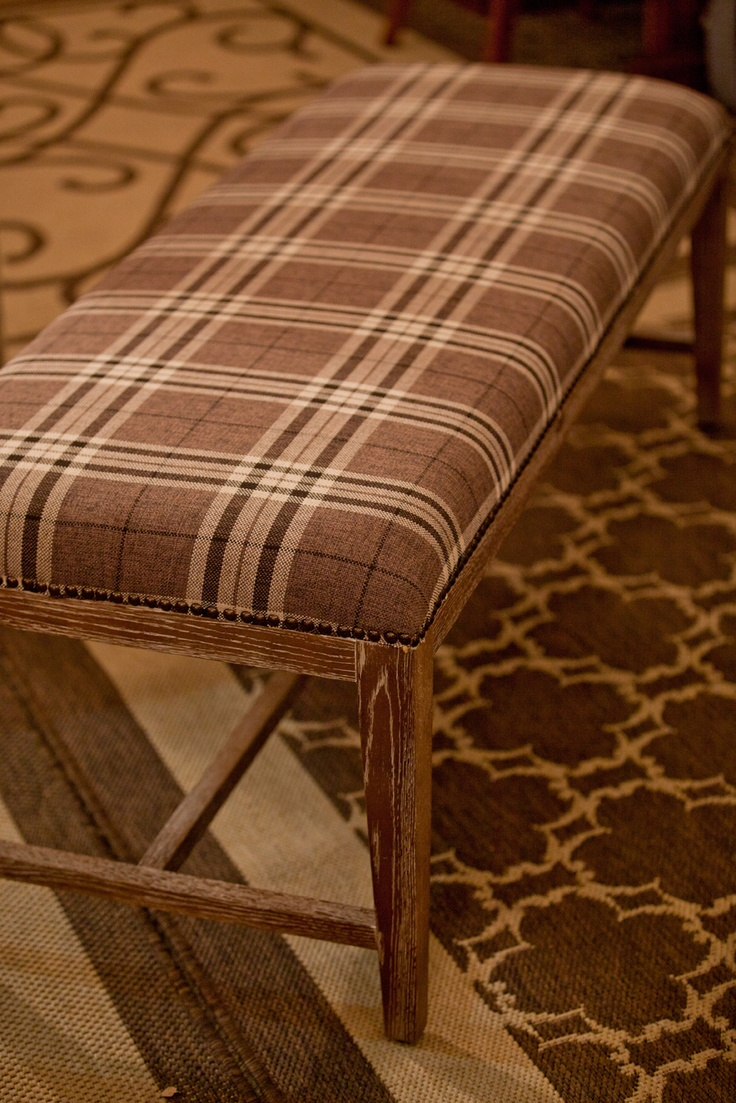 Plaid Furniture! Use it as a bench, a coffee table or at the end of your bed. www.lhimports.com