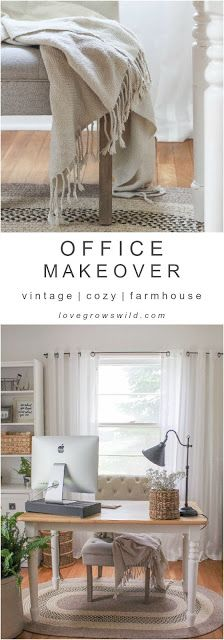 OFFICE MAKEOVER REVEAL | Home Decoration