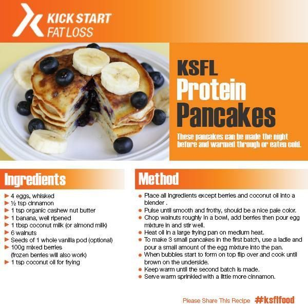 Punch up your next breakfast with one of these hearty healthy protein pancake recipe.