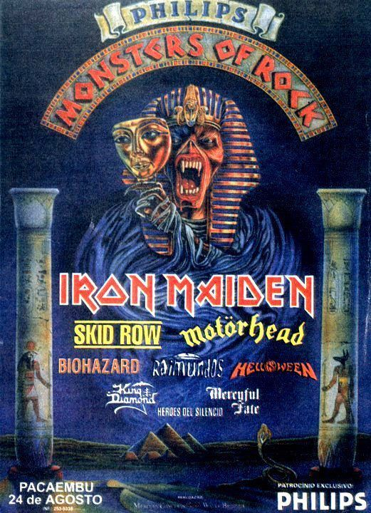 Monsters Of Rock - São Paulo, Pacaembu - 24 de agosto de 1996: Héroes del Silencio, Mercyful Fate, King Diamond, Helloween, Raimundos, Biohazard, Motörhead, Skid Row, Iron Maiden.
