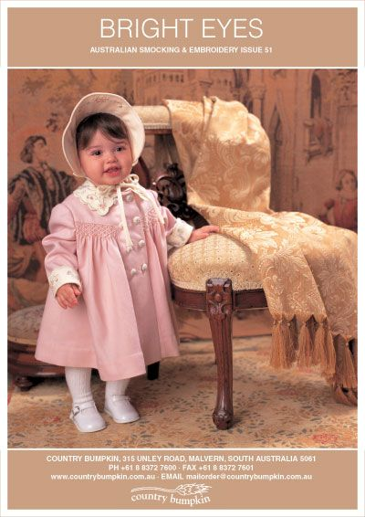 Bright Eyes Pattern, Australian Smocking and Embroidery magazine ...