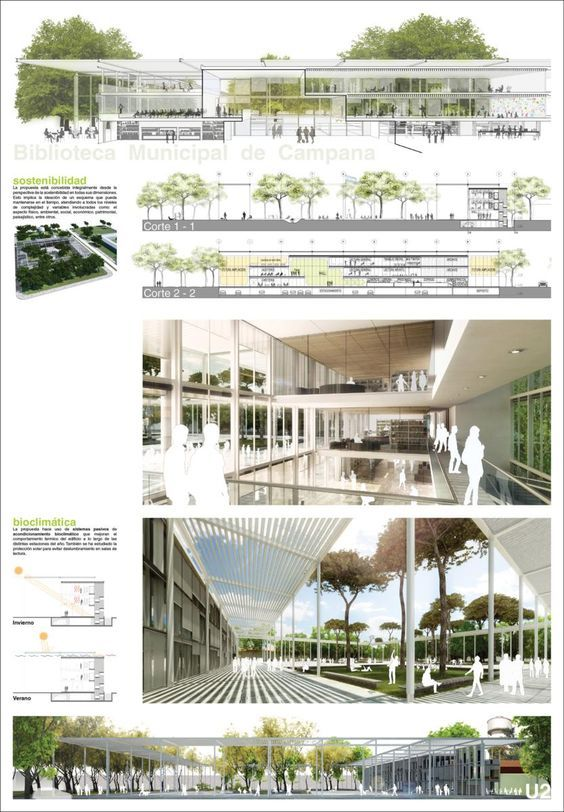 Architectural drawing / rendering / diagram - Presentation layout: