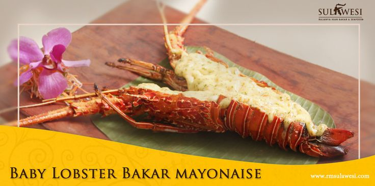 Baby Lobster Bakar Mayonaise