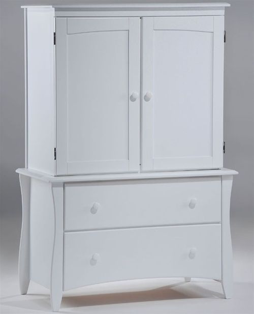 Buy night and day furniture clove kids bedroom furniture white Clove Armoire Bureau at ekidsrooms.com.