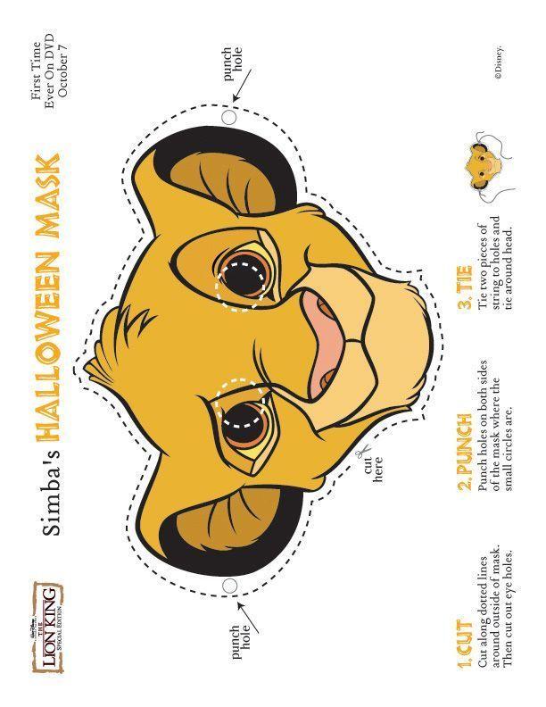 Diese Simba Maske Eignet Sich Sowohl Zum Aufziehen Als Auch Als