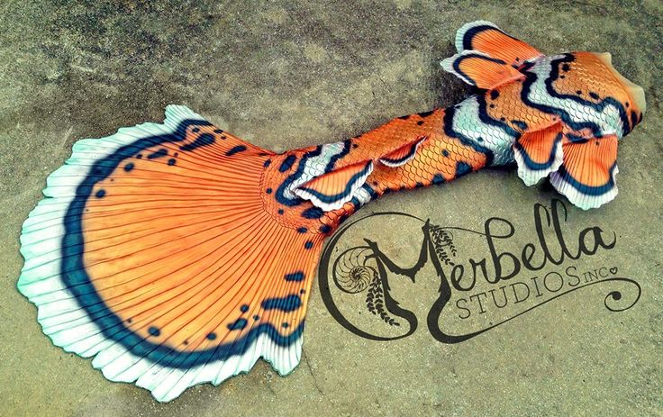 Full Silicone Mermaid Tail by Merbella Studios Inc. Based off of the iconic Clownfish.