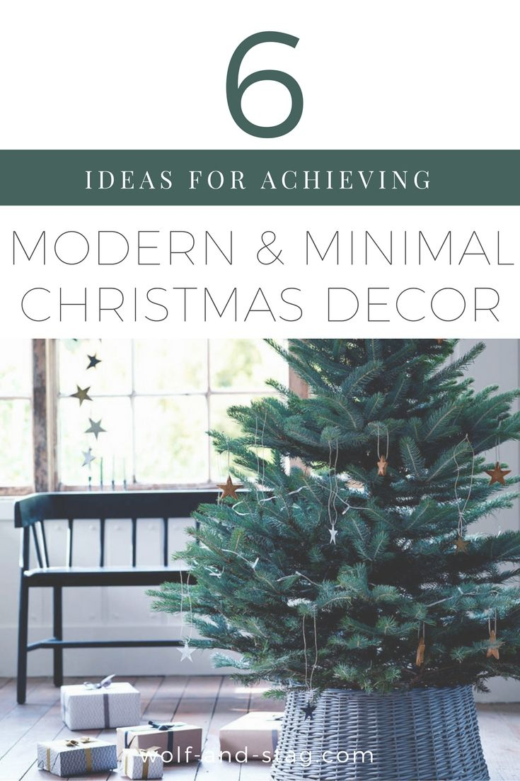 Interiors Inspiration: 6 Ideas for Achieving Modern & Minimal Christmas Decor That's Still Epically Cozy