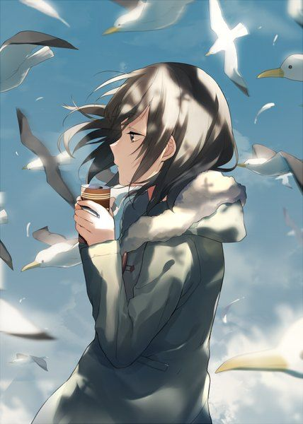 Groovy Anime Picture 571X800 With Original Achiki Artist Tall Image Hairstyles For Men Maxibearus