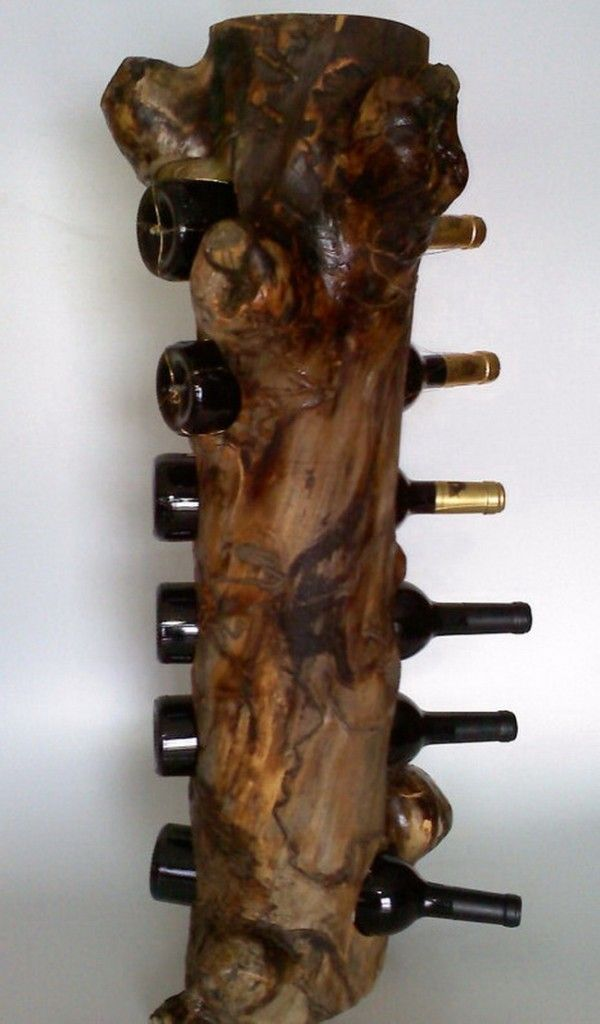 standing wine rack in solid burl aspen 19 creative diy wine rack ideas